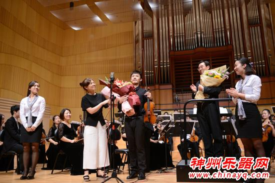谯智现身音乐会 小提琴奏响绿城郑州