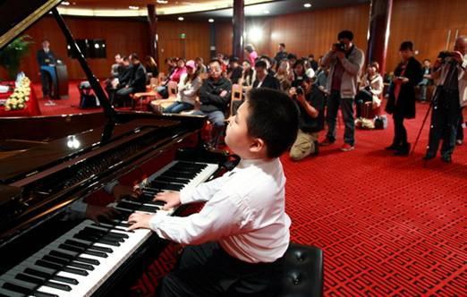 """第十四届""""星海杯""""全国少年儿童钢琴比赛新闻发布会在"""