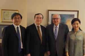中央音乐学院俞峰院长到访美国茱莉亚学院